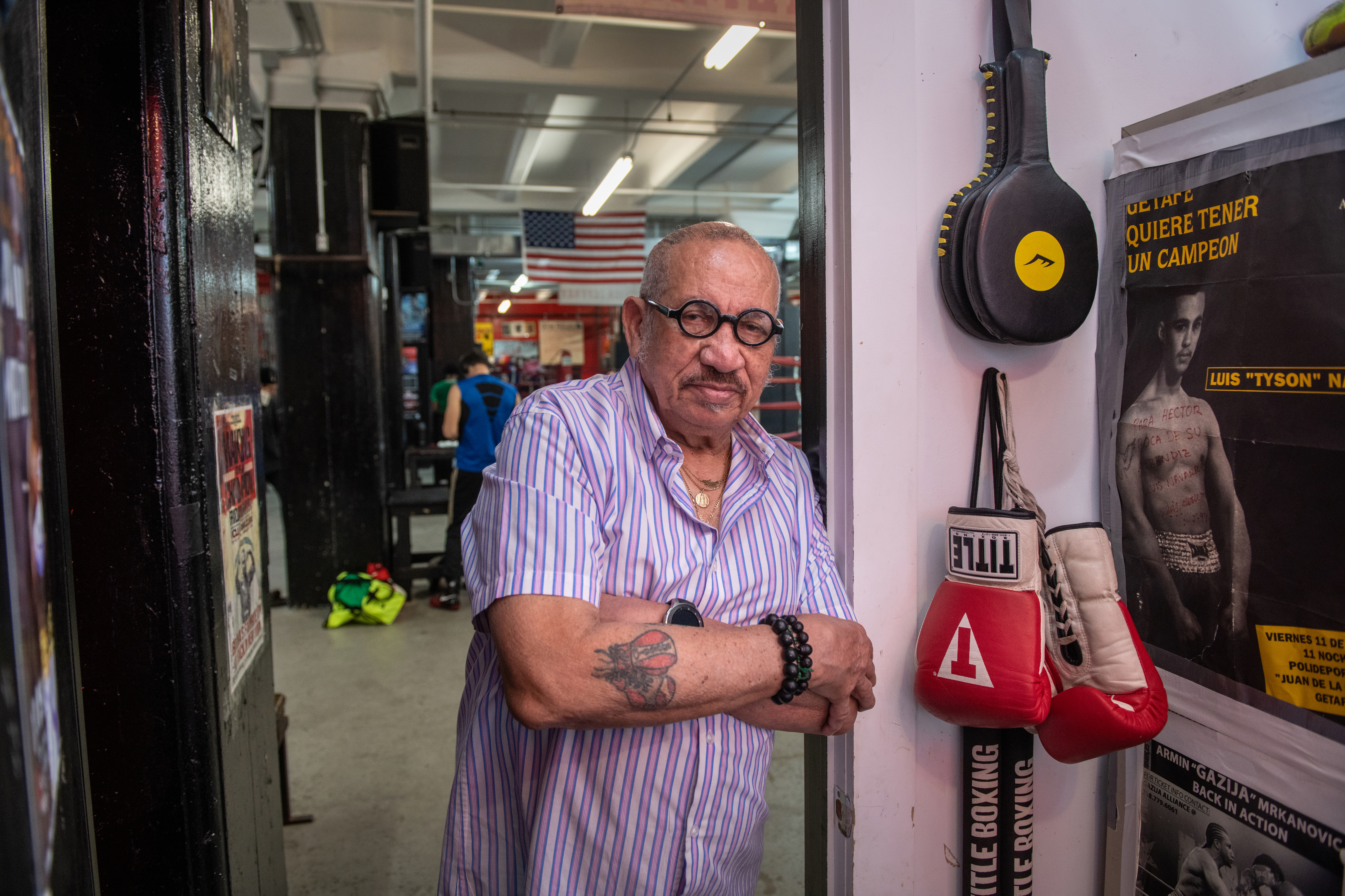 © 2019  PHILIP GREENBERG philipgreenberg1@gmail.com  917 804 8385 www.pgreenbergphoto.com   Hector Roca, a fixture at the famed and fabled Gleason's Gym,                  Possession of images does not give permission for use.  Always  Check with Photographer before intended usage.   Always Check with photographer for Editorial use and requests by magazines ...                  Possession of images does not always give permission for use.          ©2019 Philip Greenberg 917 804 8385  philipgreenberg1@gmail.com